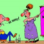 Caricature. Womens day — Stock Photo #28292971