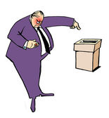 Caricature. Strict elections — Stock Photo
