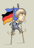 Caricature. Angela Merkel. German politics — Stock Photo