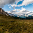 Typical alpine meadow framed by rocky alpine massifs — Stock Photo #29193265