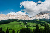 A typical view in the Alpine Dolomites — Stock Photo