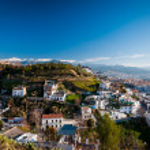 White homes in Granada. — Stock Photo