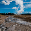 Old Faithful in Yellowstone — Stock Photo
