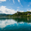 Scenic view of Bled Lake, Slovenia. — Stock Photo