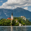 Scenic view of dominants of Lake Bled — Stock Photo