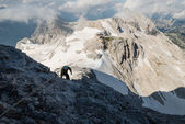 Ascent to Triglav — Stock Photo