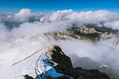 Julian Alps from above clouds — Stock Photo