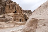 Temple in Little Petra, Jordan. — Stock Photo