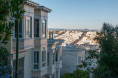 Typical housing architecture in San Francisco. — Stock Photo