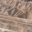 Eroded ridges at the Zabriskie Point — Stock Photo