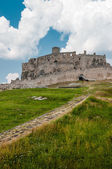 Vertical view of famous Spis Castle, Slovakia. — Stock Photo