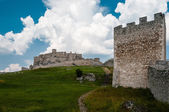 Horizontal view of famous Spis Castle, Slovakia. — Stock Photo