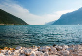 Scenic view of The Garda Lake during summer day. Lago di Garda,  — Stock Photo