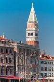 Bell Tower and Doge's Palace on San Marco sqaure, Venice, Italy — Stock Photo