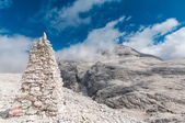 Scenic view of Piz Boe 3152m), the highiest peek of Sella ronda, Dolomites, Italy. — Stock Photo