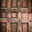 Stock Photo: Close-up of old doors