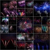 Collage de fuegos artificiales — Foto de Stock