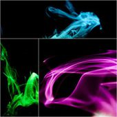 Smoke collage — Foto Stock