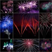 Firework collage — Stock Photo
