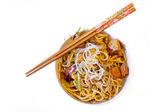 Kinesiska nudlar mat — Stockfoto