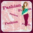 Fashion girl — Stockvectorbeeld