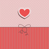 Valentines day card — Vettoriale Stock