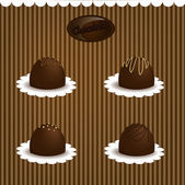 Chocolate candy set — Stock Vector