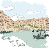 イタリアの背景 — ストックベクタ