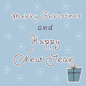 "Christmas card ""Merry Christmas and Happy New Year"" — 图库矢量图片"