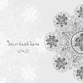 Ornamental lace pattern, circle background with many details and place fore your text — Stock Vector