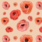Abstrakcyjny wzór romantyczny z różami — Wektor stockowy