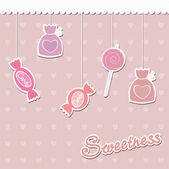 Sweets on strings. Vector illustration. — Stock Vector