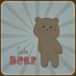 Cute bear — Stock Vector #28036097