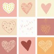 Hearts set for Valentines day and your greeting card — Stock Vector #28628781