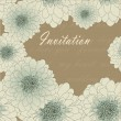 Invitation or wedding card with chrysanthemum — ストックベクタ #28628935