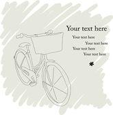красивая открытка с довольно велосипедов в карандаше — Cтоковый вектор