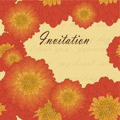Convite ou cartão de casamento com crisântemo — Vetor de Stock