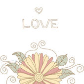 Beautiful card with a flower and place for your text. Great card for Valentine's Day — Stock vektor