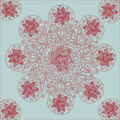 декоративные кружевные модели, круг фон с много деталей — Cтоковый вектор