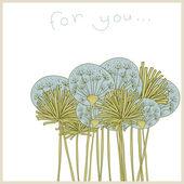 Invitation card with dandelions — 图库矢量图片