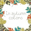 Frame from autumn leaves. Autumnal seamless background. Eps 10 — Wektor stockowy  #30386933