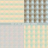 Conjunto de padrões geométricos. planos de fundo colorido mosaico abstrato. ilustração de vetor eps 10. — Vetor de Stock