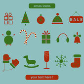 Christmas labels, icons elements collection — Stockvektor