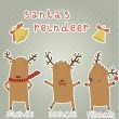 Set of labels with Santa's reindeer. — Stock Vector