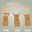 Set of labels with Santa's reindeer. — Vettoriale Stock