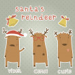 Set of labels with Santa's reindeer. — Stock Vector #31472267