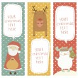 A set of Christmas and New Year banners — Stock Vector