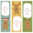 Stock Vector: Set of banners with Santa's reindeer.