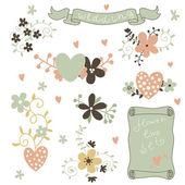 Vintage floral cards — Stock Vector