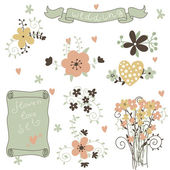Vintage floral cards — Stock Vector